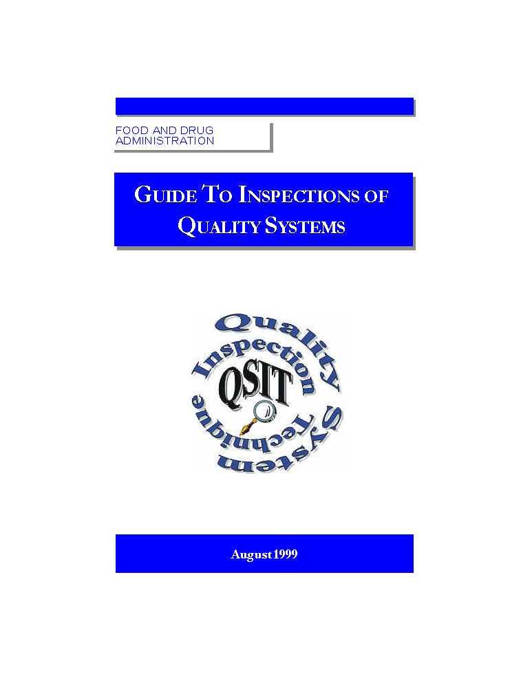 FDA Guide to Inspections of Quality Systems (QSIT) Cover Page
